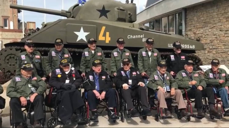 "World War II veterans, including Las Vegas local Onofrio ""No-No"" Zicari (third from left) at Th ..."
