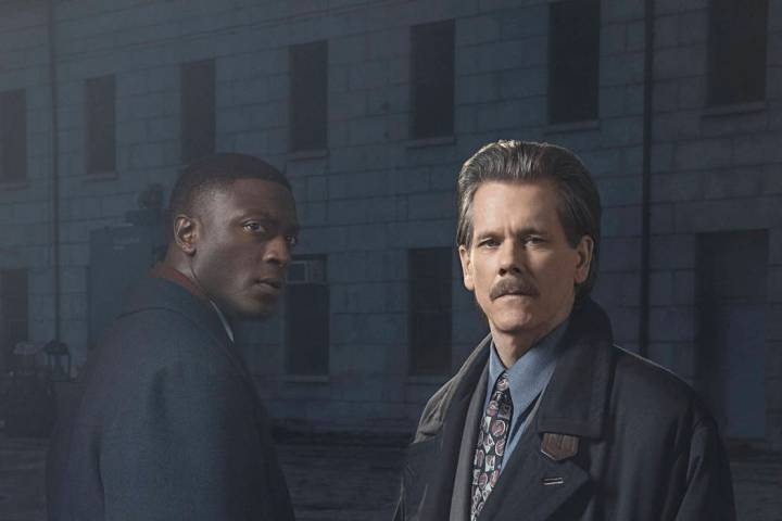 (L-R): Aldis Hodge as Decourcy Ward and Kevin Bacon as Jackie Rohr in CITY ON A HILL. Photo Cre ...