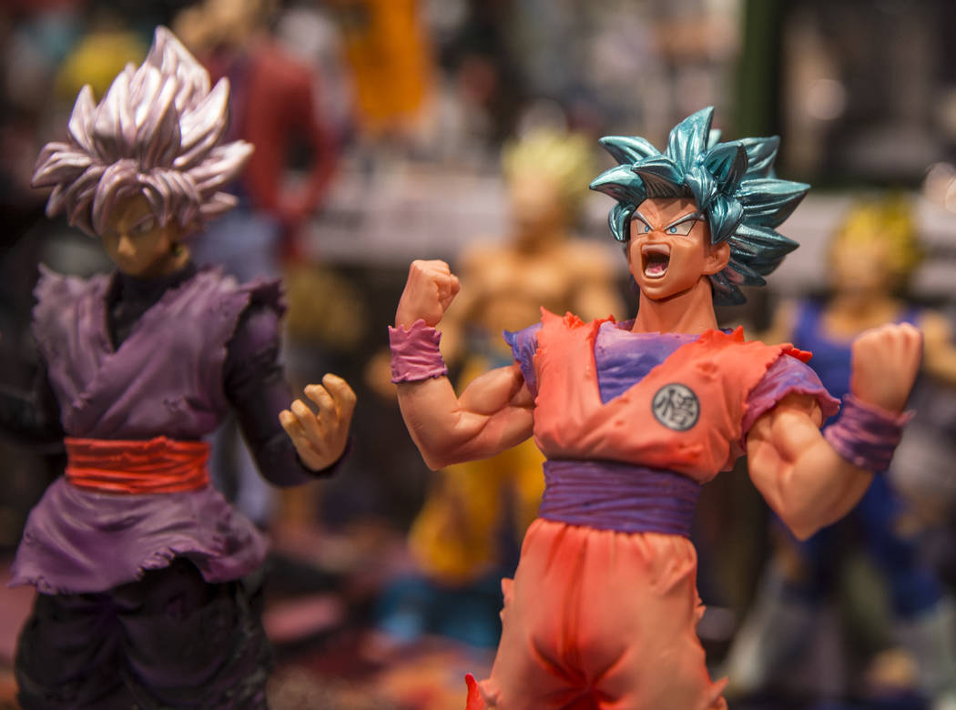 """Figurines from """" Dragon Ball Z """" at the Amazing Las Vegas Comic Con on Friday, June 1 ..."""