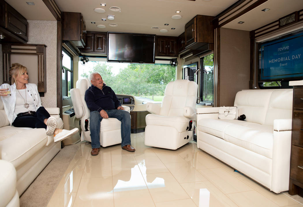 Roger and Carolyn Wagner travel in luxurious style aboard their 39-foot Tiffin Allegro motor ho ...