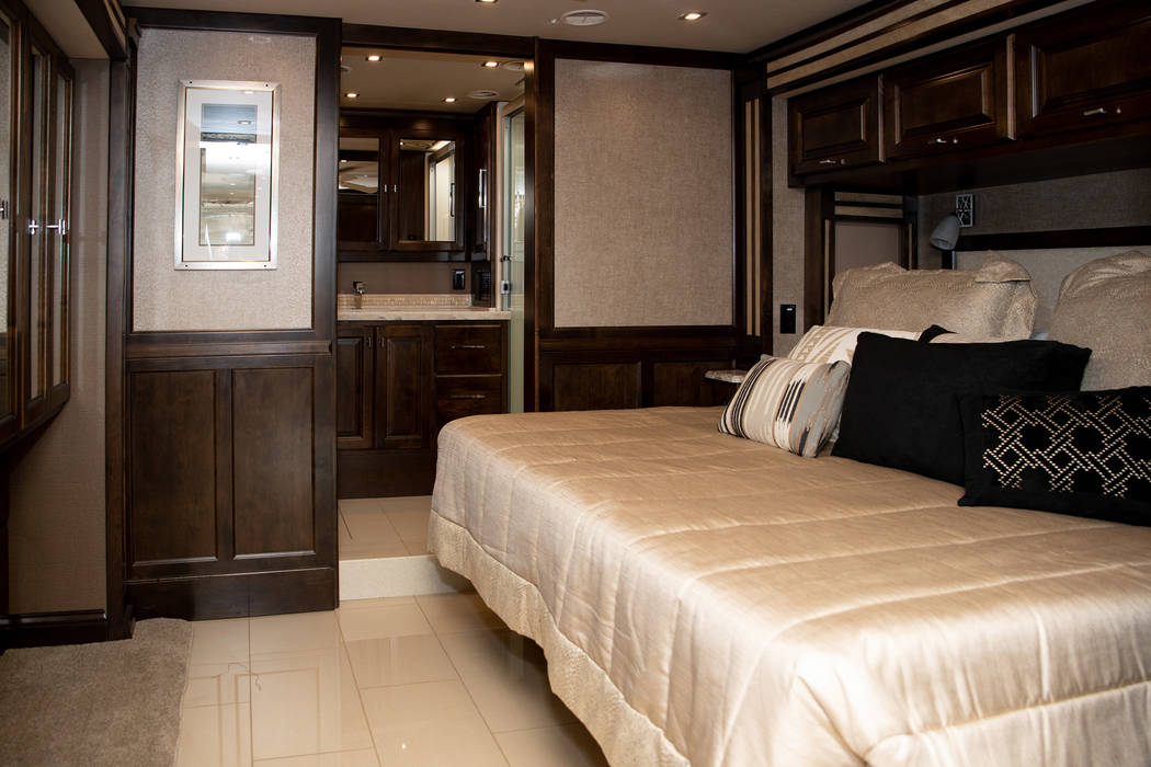 Roger and Carolyn Wagner's bedroom features a king-size bed and ensuite bathroom. There's also ...