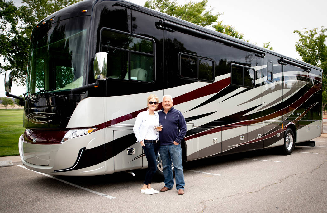 Roger and Carolyn Wagner travel in style aboard their 39-foot Tiffin Allegro motor home. The co ...