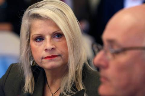 FILE - In this Wednesday, Jan. 28, 2015, file photo, Sen. Linda Collins-Smith, R-Pocahontas, li ...