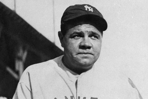 This is an undated photo showing New York Yankees baseball player Babe Ruth. (AP Photo)