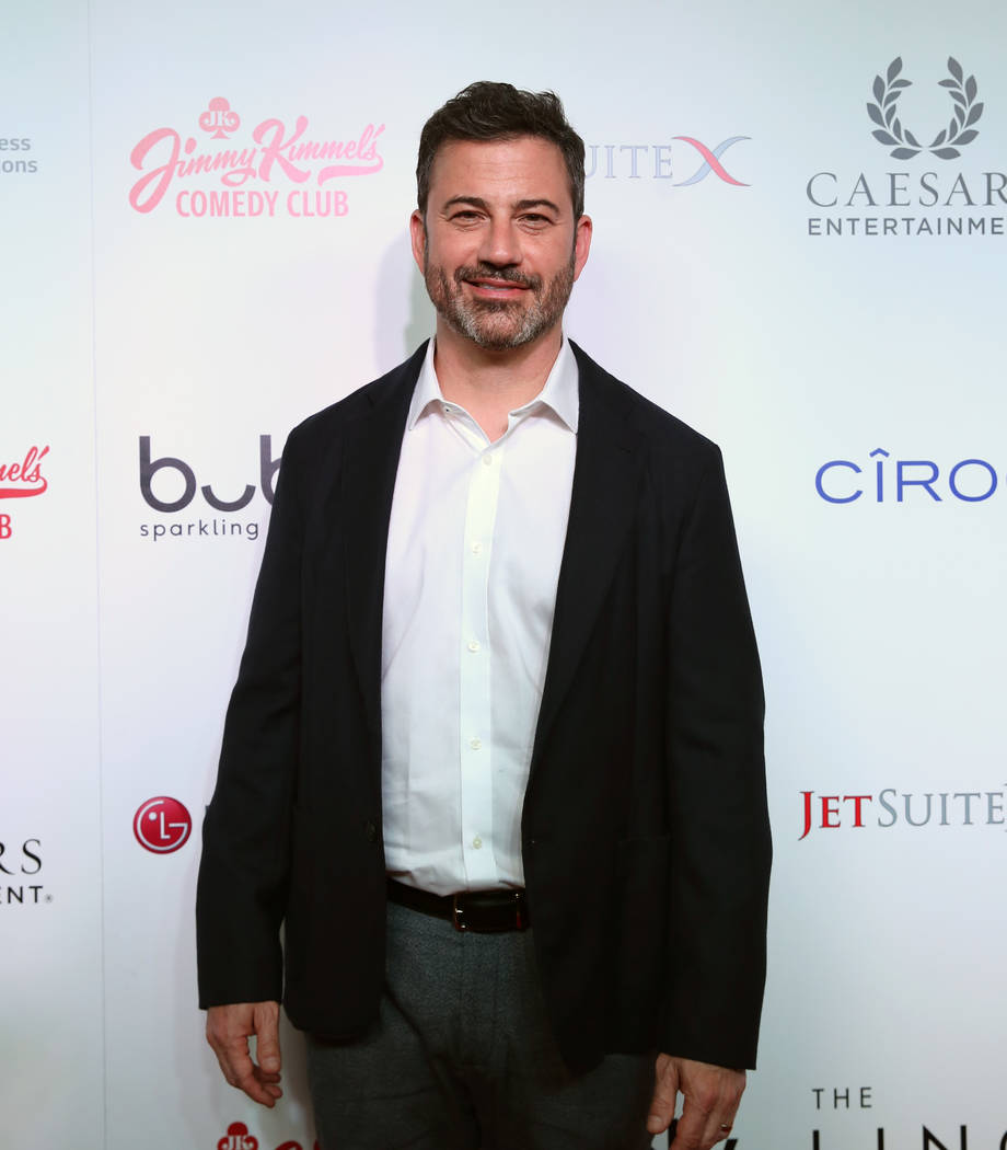 Emmy Award-winning TV host, Jimmy Kimmel, arrives on the red carpet at his comedy club during t ...