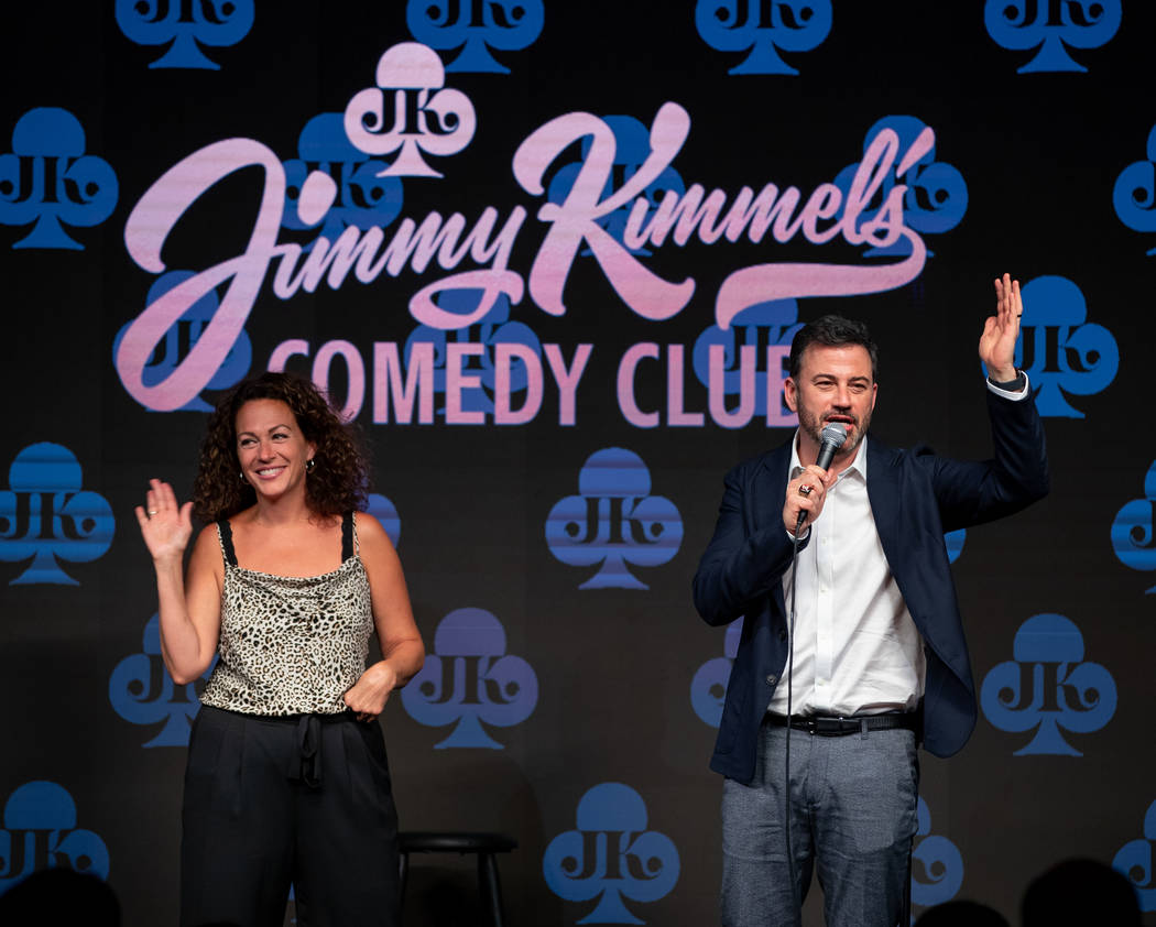 Jimmy Kimmel and his comedian sister, Jill Kimmel, are shown at the grand opening of Jimmy Kimm ...