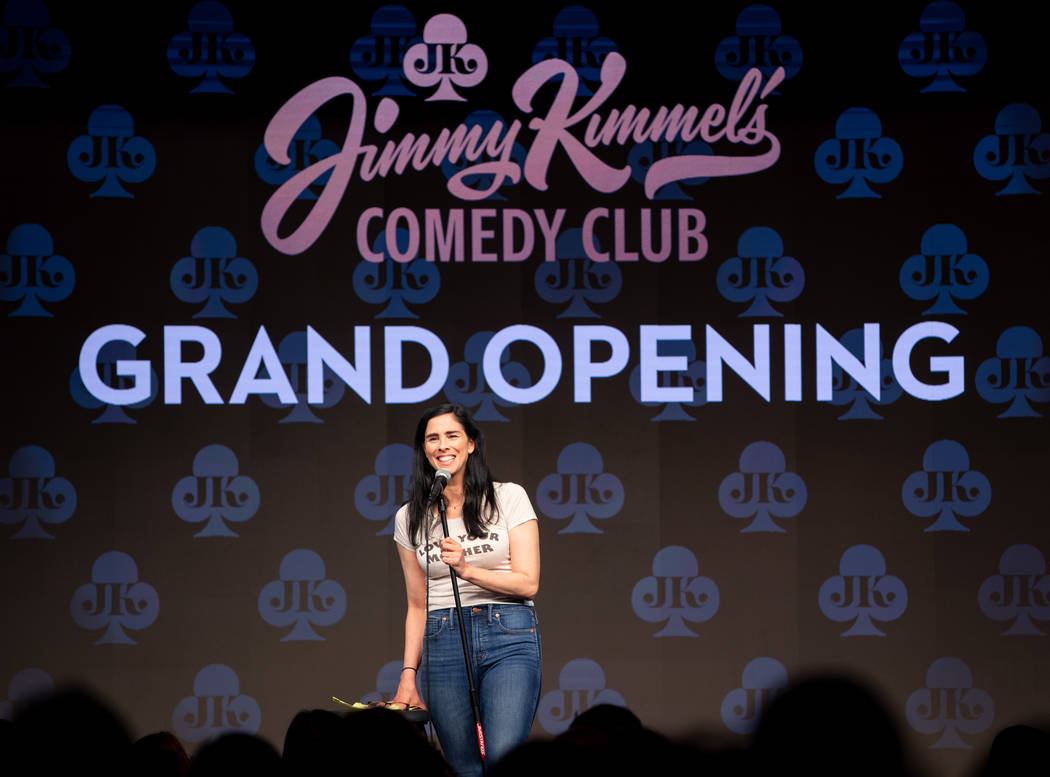 Sarah Silverman is shown at the grand opening of Jimmy Kimmel's Comedy Club at Linq Promenade o ...