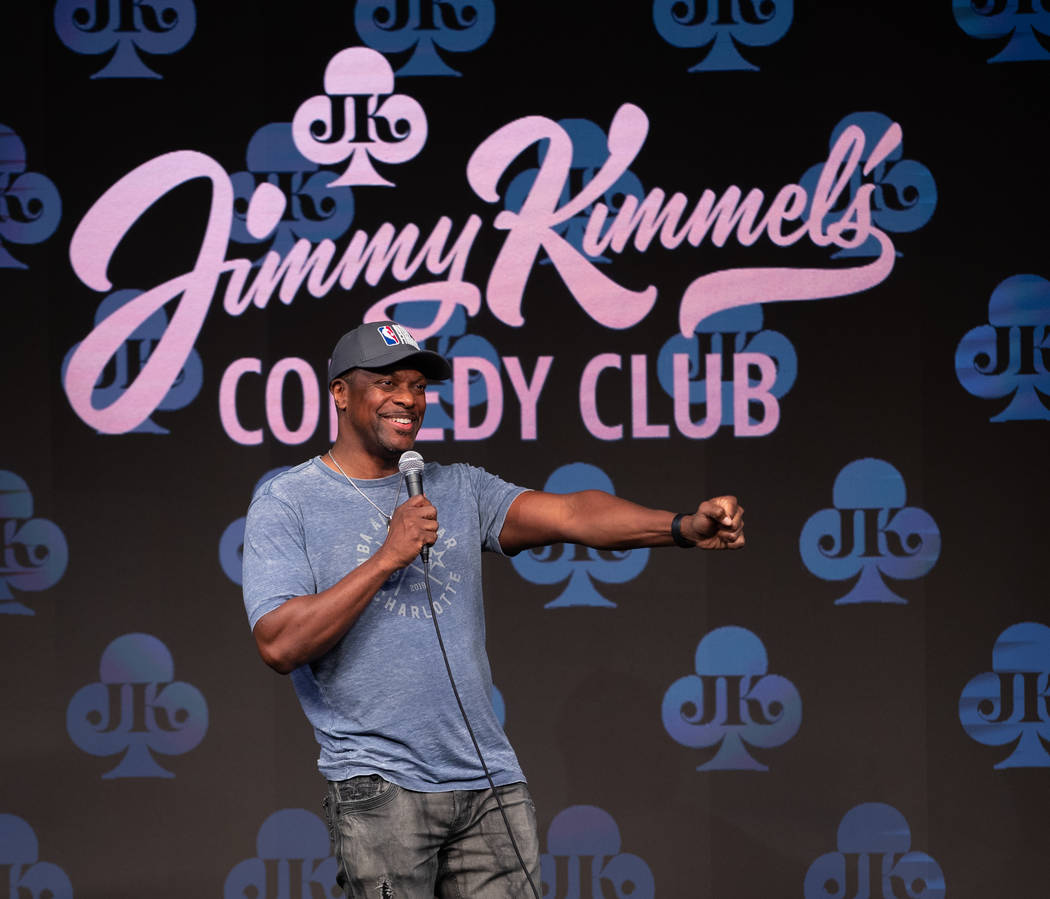 Chris Tucker is shown at the grand opening of Jimmy Kimmel's Comedy Club at Linq Promenade on F ...