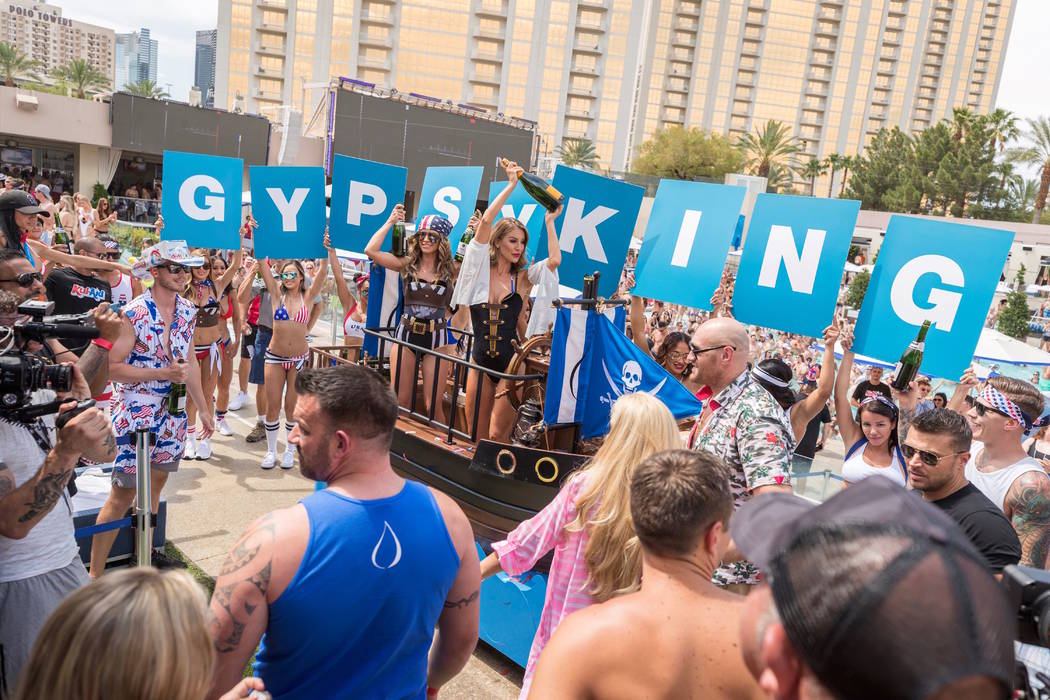 Tyson Fury parties at Wet Republic at MGM Grand on on Sunday, June 16, 2016 (Wolf Productions)