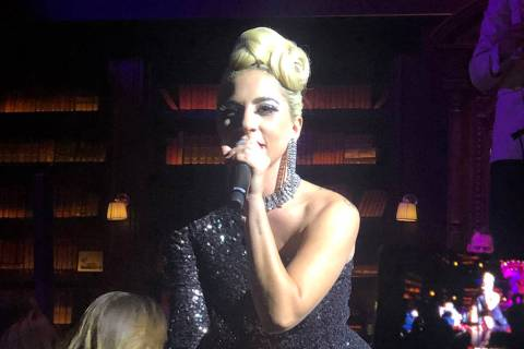 "Lady Gaga performs at Brian Newman's ""After Dark"" show at NoMad Restaurant on Saturday, June 15 ..."