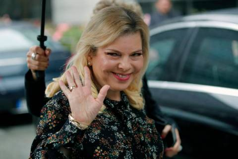 FILE - In this June 6, 2018 file photo, Sara Netanyahu, the wife of Israel's Prime Minister Ben ...