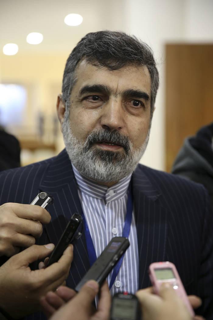 In this photo taken Dec. 9, 2014, spokesman for Iran's atomic agency Behrouz Kamalvandi speaks ...