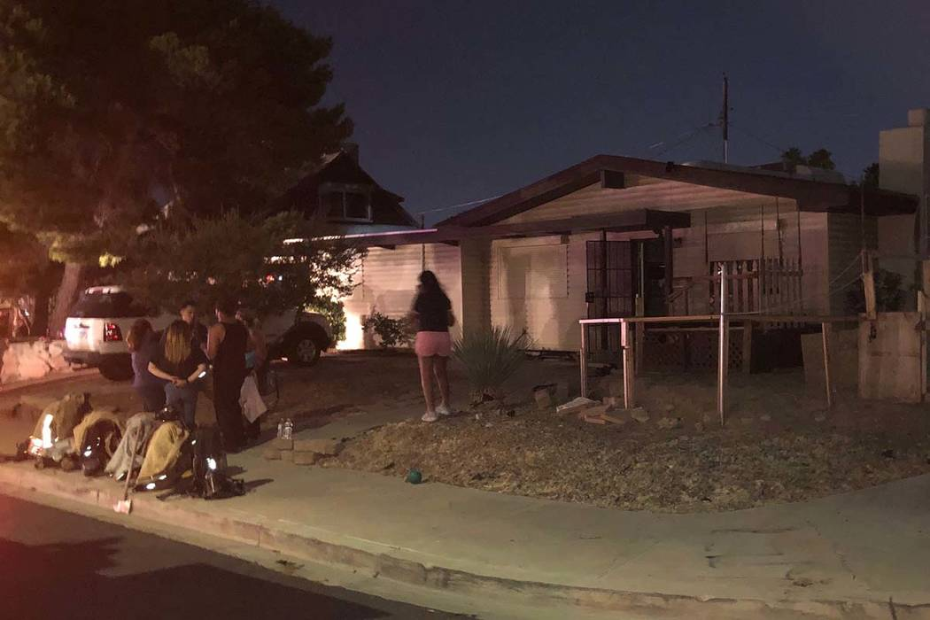 A barbecue is believed to be the cause of a fire that damaged two east Las Vegas Valley residen ...