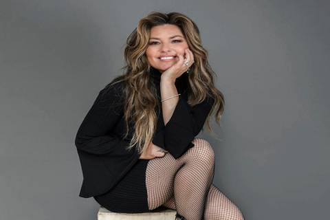Shania Twain poses for a portrait at her Manhattan hotel, Friday, June 14, 2019, in New York. T ...