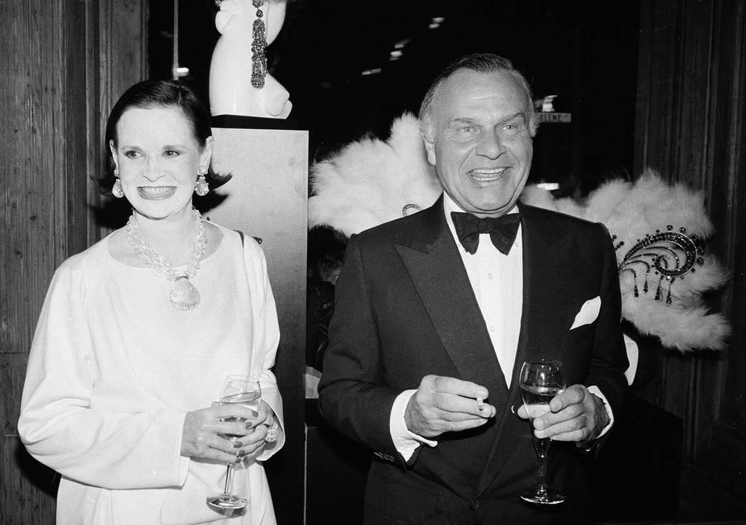 FILE - In this Nov. 9, 1982 file photo, fashion designers Gloria Vanderbilt, left, and Bill Bla ...