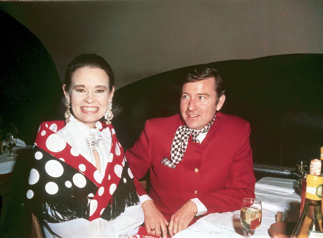 Socialite Gloria Vanderbilt, left, is shown with her husband, actor Wyatt Cooper, at a Truman C ...