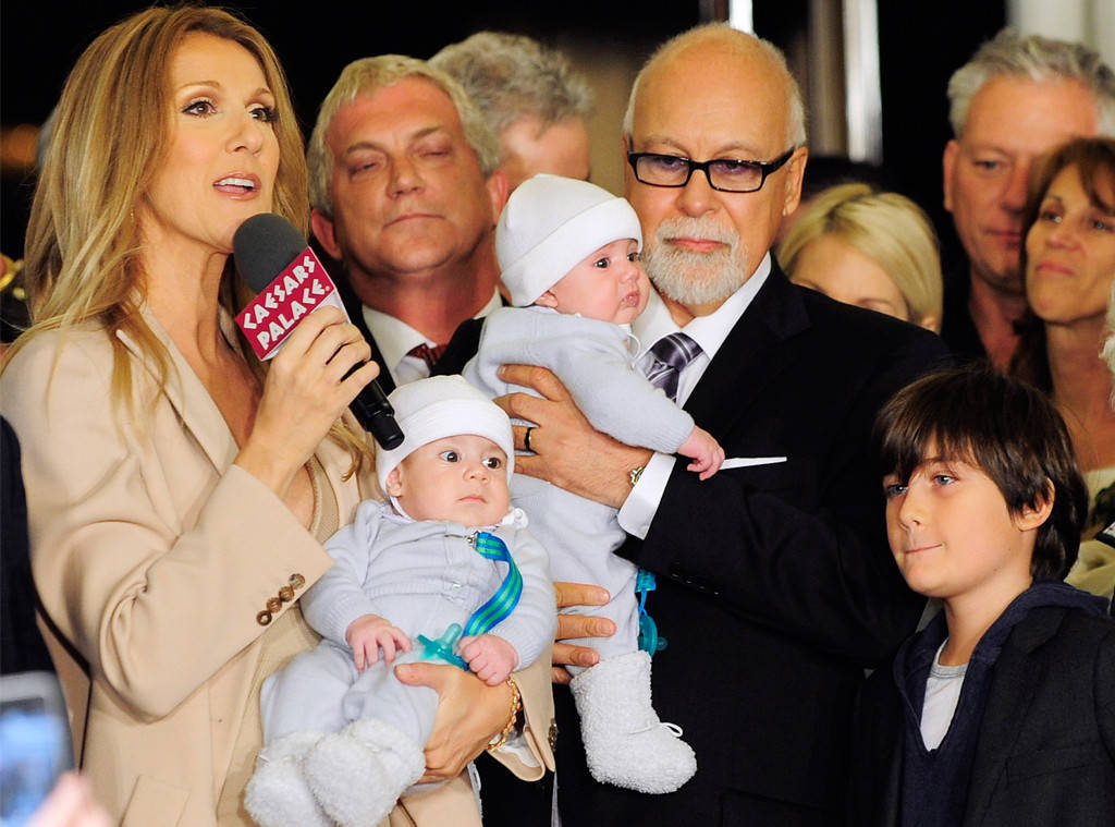 Celine Dion, Rene Angelil and their family at Caesars Palace in Las Vegas in 2013. (Ethan Mille ...