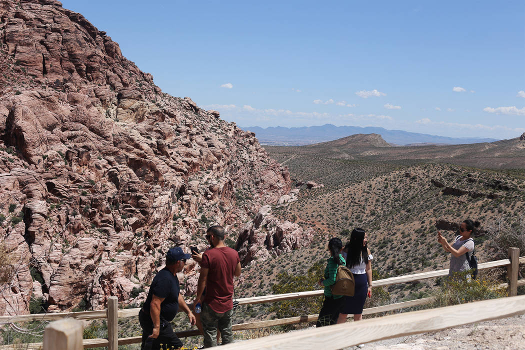 The Calico 1 stop along the scenic route of Red Rock Canyon National Conservation Area in Las V ...