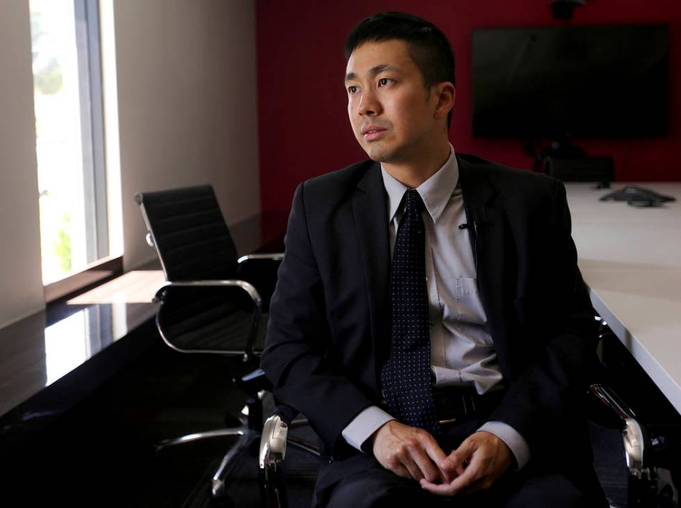 Attorney Ron Sung speaks to the Review-Journal at Nevada Legal Services in Las Vegas, Tuesday, ...