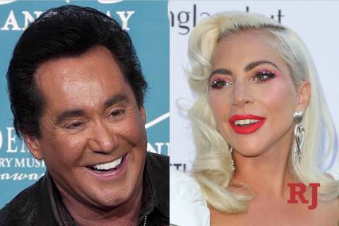 Wayne Newton, left, and Lady Gaga (The Associated Press/Las Vegas Review-Journal)