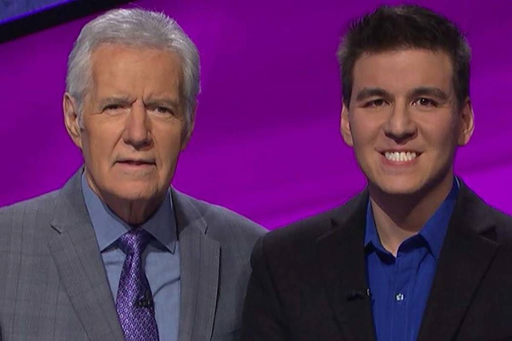 """Jeopardy!"" host Alex Trebek and Las Vegas sports bettor James Holzhauer (Facebook)"