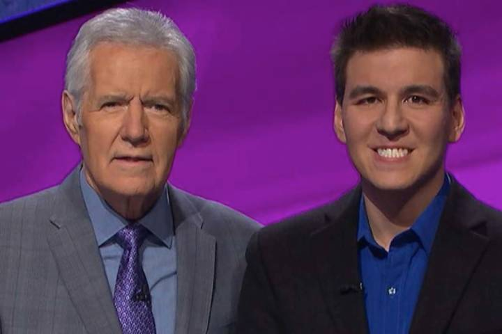 """Jeopardy!"" host Alex Trebek and Las Vegas sports bettor James Holzhauer (Facebook)"