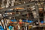 Crews encounter steel canopy truss fit issue on Las Vegas stadium