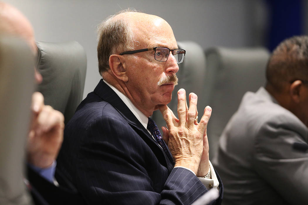 Las Vegas Convention and Visitors Authority board member Bill Noonan during a board meeting at ...