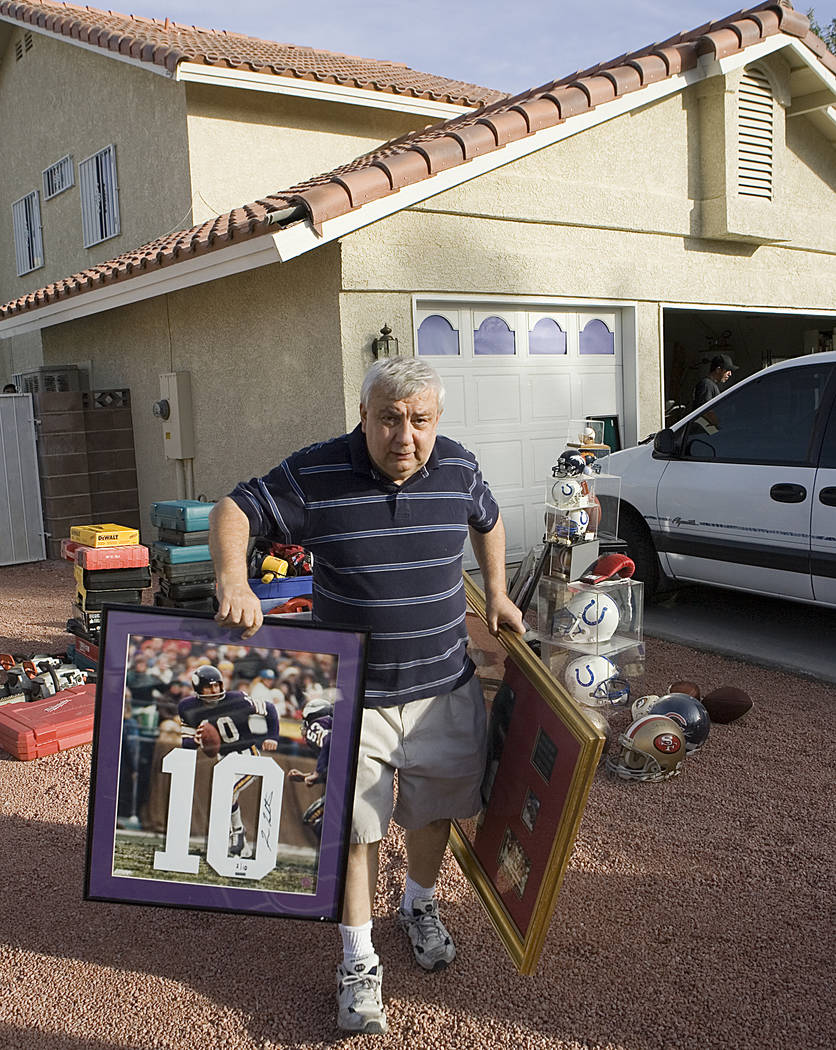 Rick Nara, owner of Play Ball, a sports card and sports memorabilia shop on Spring Mountain Roa ...