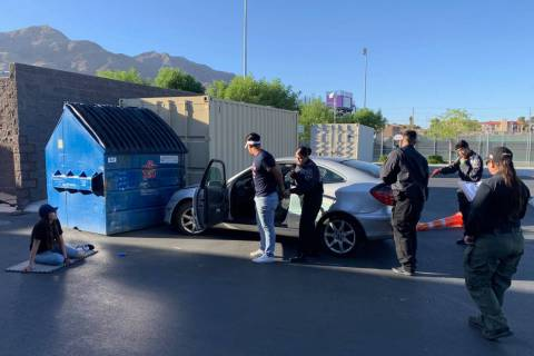 The North Las Vegas Police Department's Explorers are seen during an officer-needs-assistance s ...