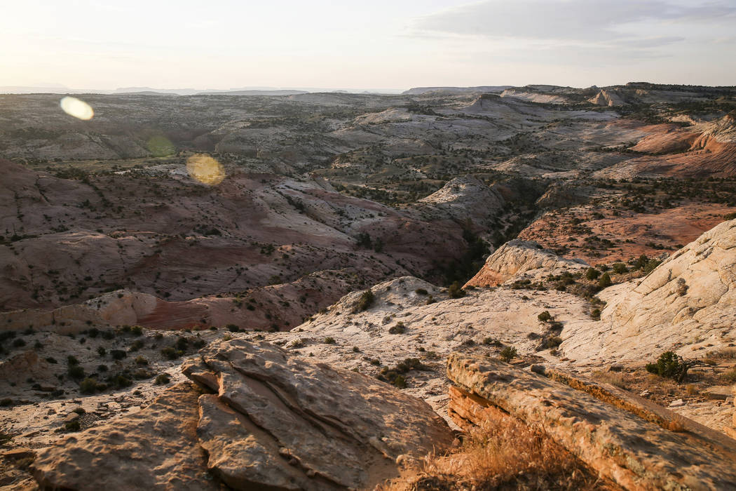FILE - This July 9, 2017 file photo, shows a view of Grand Staircase-Escalante National Monumen ...