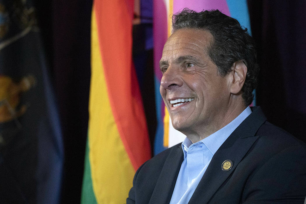 New York Gov. Andrew Cuomo speaks at the Lesbian, Gay, Bisexual & Transgender Community Cen ...