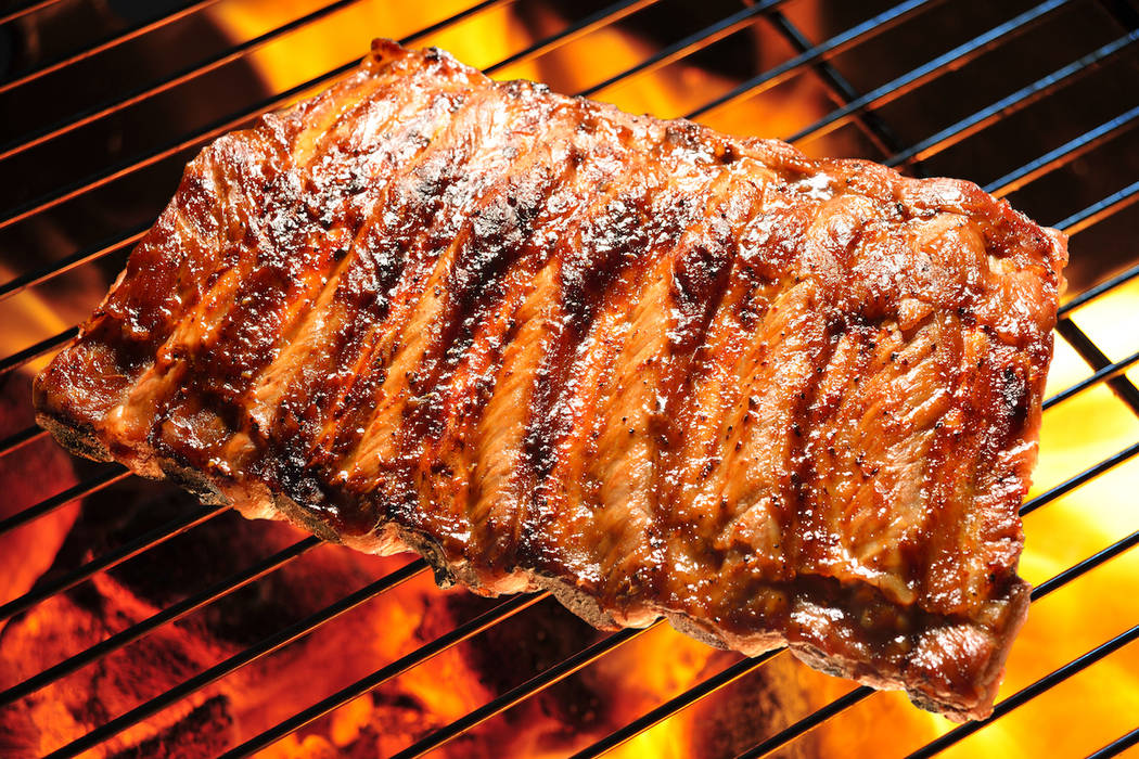 Grilled pork ribs on the grill. (Getty Images)
