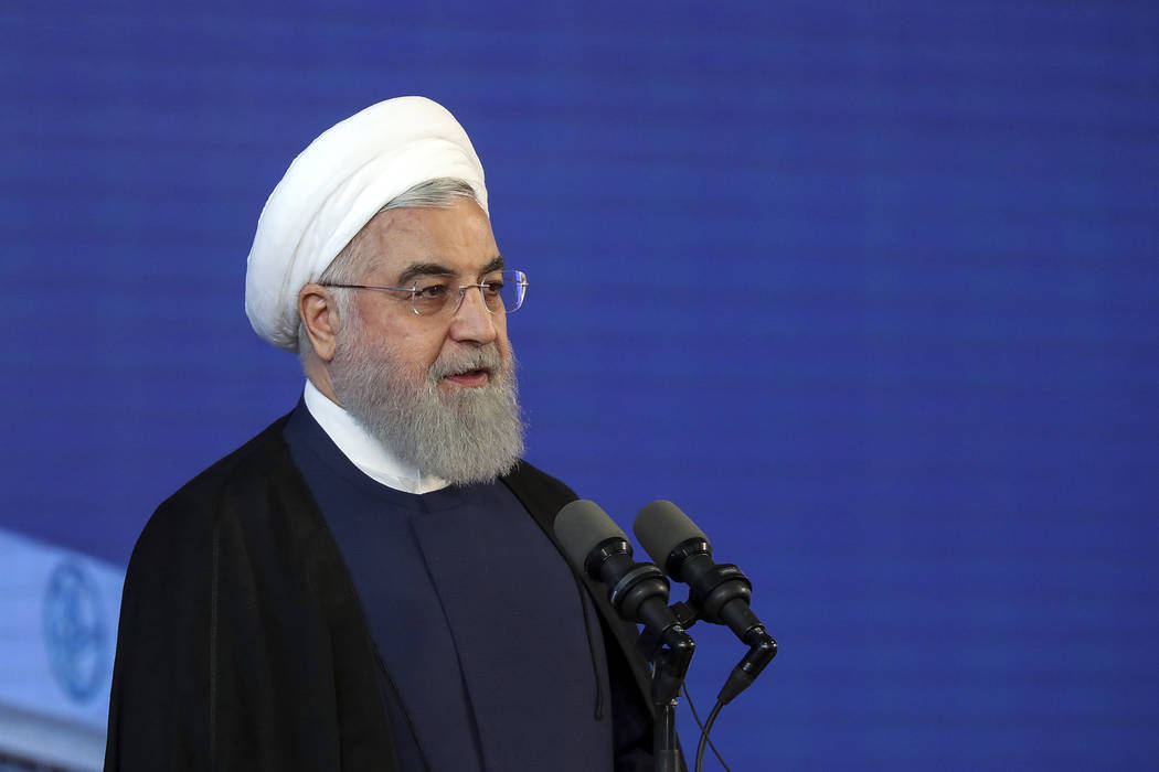 In this photo released by an official website of the office of the Iranian Presidency, Iranian ...