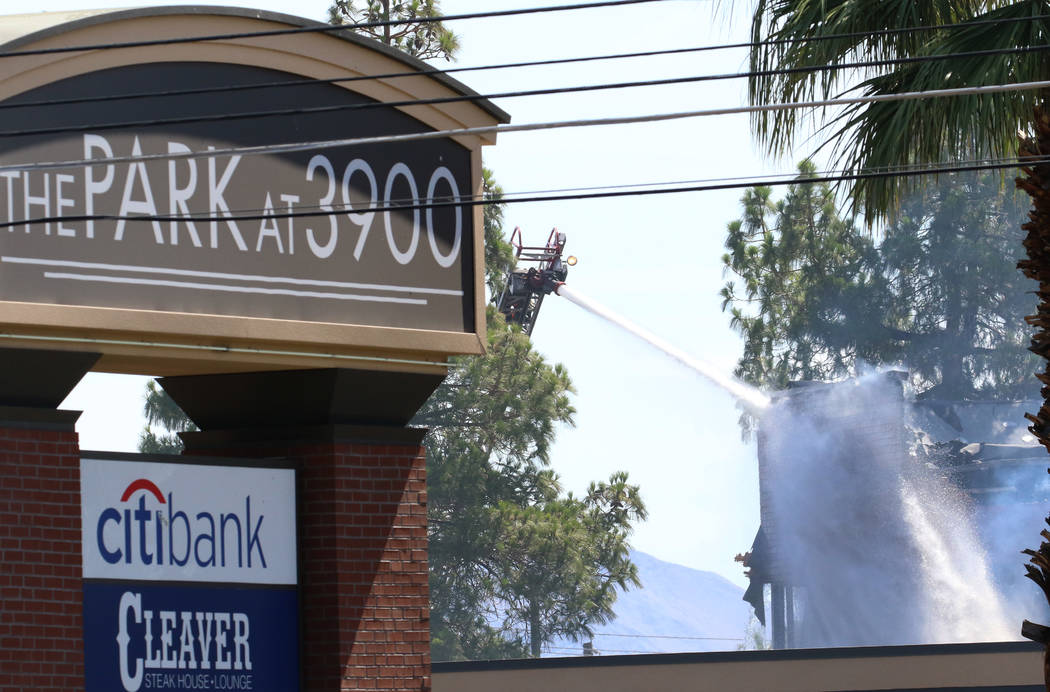 The Park at 3900 is likely a complete loss after a fire at 3900 Paradise Road early Monday, Jun ...