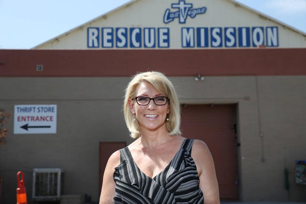 Heather Engle, CEO of the Las Vegas Rescue Mission, at the Las Vegas facility, 480 W Bonanza Ro ...