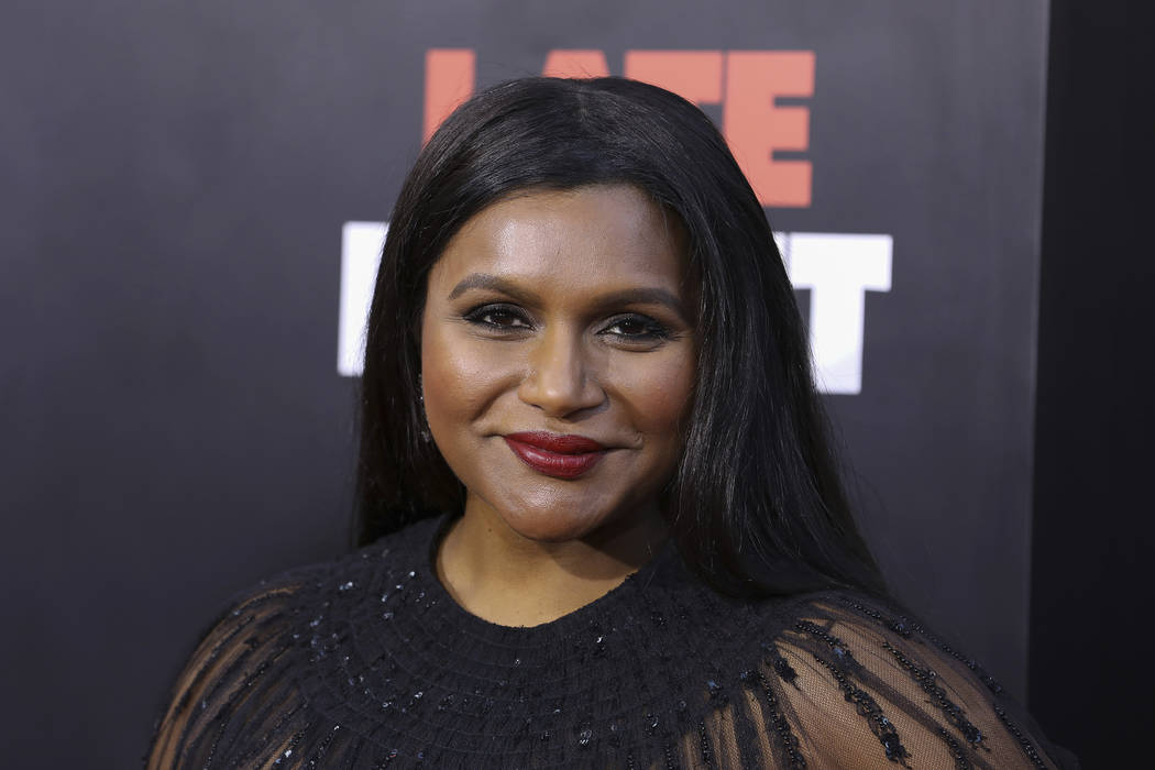 """Mindy Kaling attends the premiere of """"Late Night"""" at the Orpheum Theatre on Thursday, ..."""