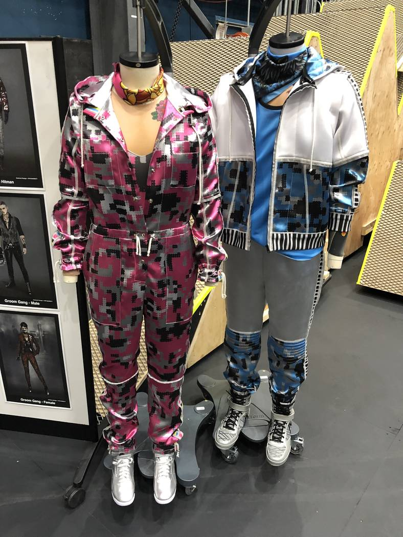 """Costumes for """"R.U.N"""" are shown Cirque HQ in Montreal on Tuesday, June 18, 2019. (John Katsilome ..."""