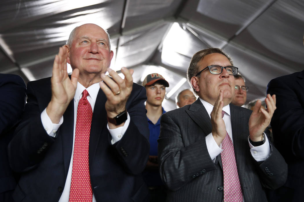 Agriculture Secretary Sonny Perdue, left, and Environmental Protection Agency Administrator And ...