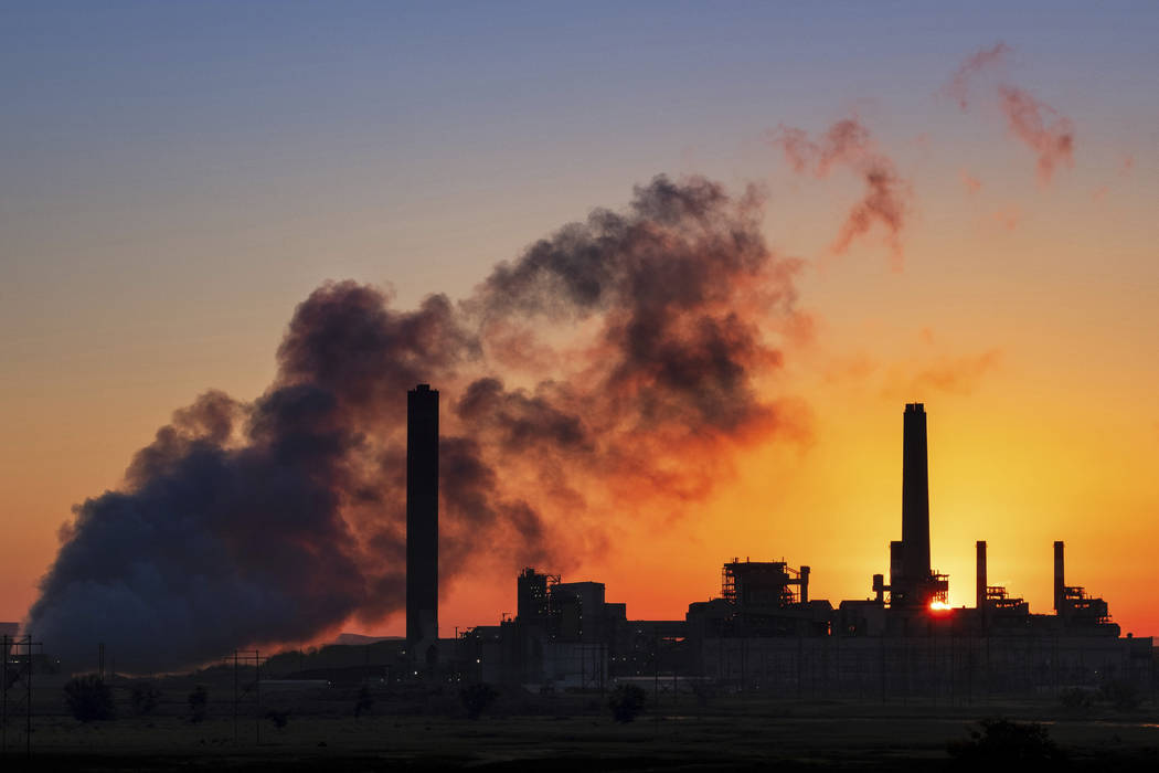 The Dave Johnson coal-fired power plant in Glenrock, Wyo., July 27, 2018, The Trump administrat ...