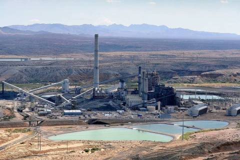 The Reid Gardner Generating Station, a 557-megawatt coal-fired plant in Moapa, Sept. 9, 2014. T ...