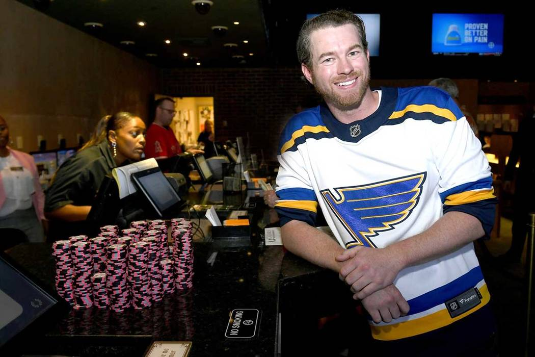 St. Louis Blues fan Scott Berry collected $100,400 for a winning bet on the Stanley Cup at Pari ...
