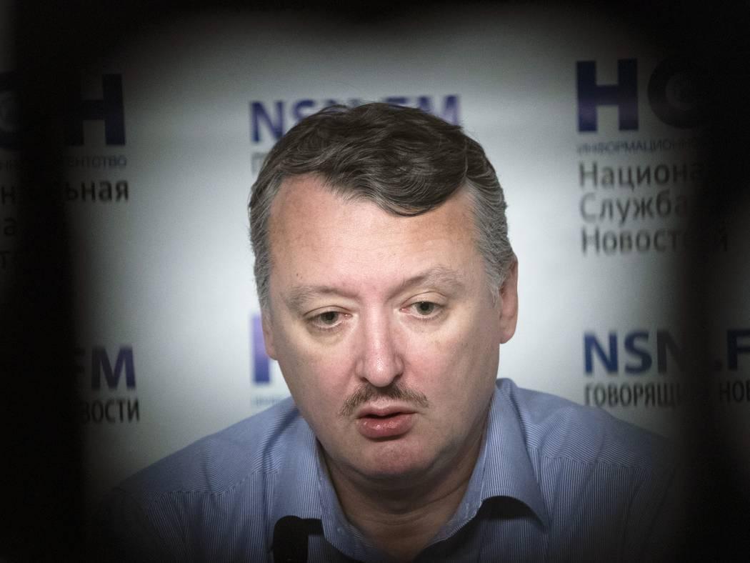 FILE In this file photo taken on Tuesday, Nov. 13, 2018, Igor Girkin, also know as Igor Strelko ...