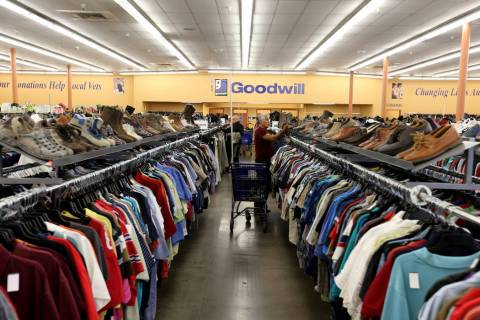 Goodwill at 9385 W. Flamingo Road at South Fort Apache Road in Las Vegas on Wednesday, May 2, 2 ...