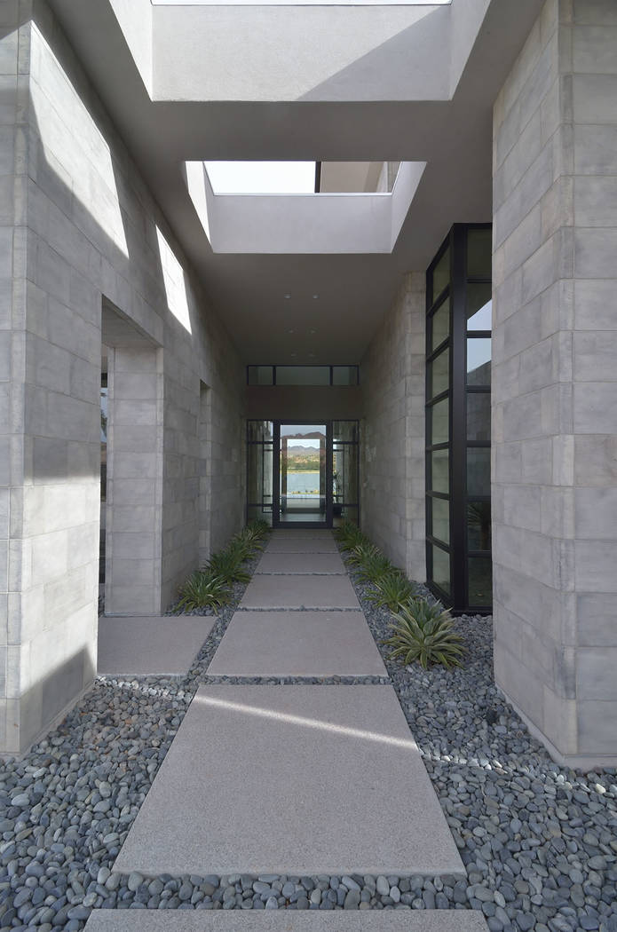 The home's entrance. (Bill Hughes Real Estate Millions)