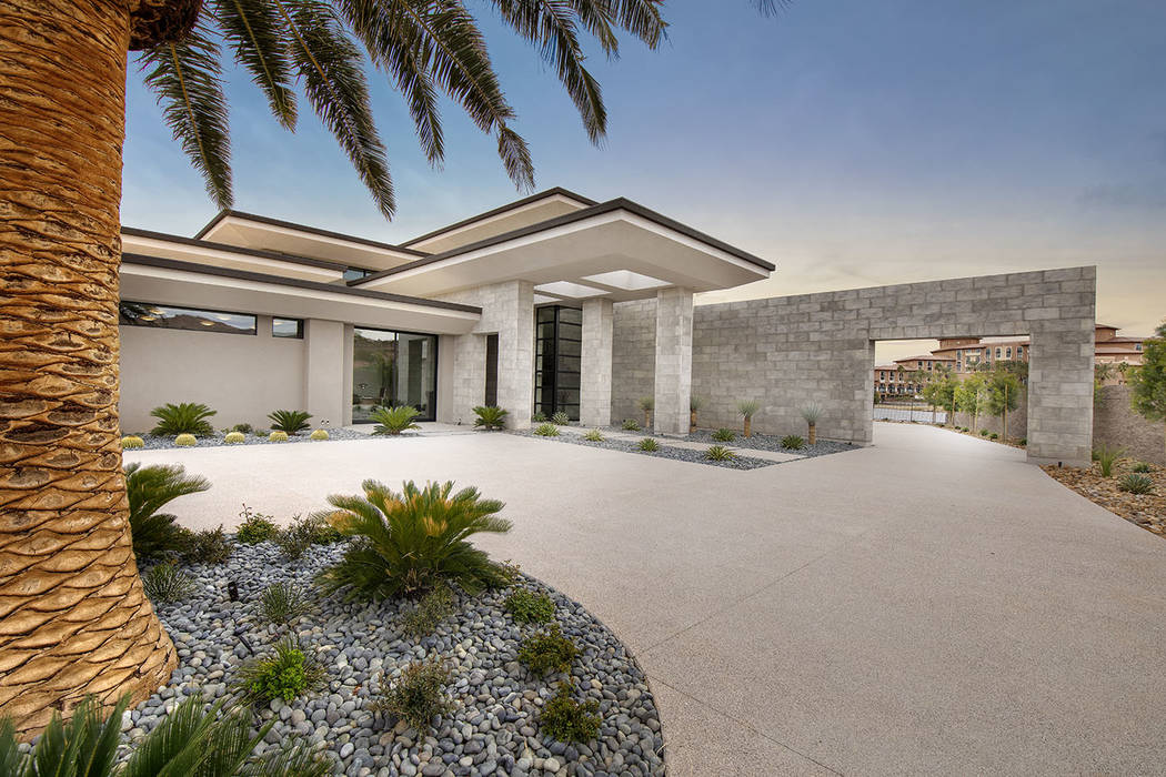 This 8,838-square-foot desert-contemporary home is at Lake Las Vegas on the North Shore. (Syner ...