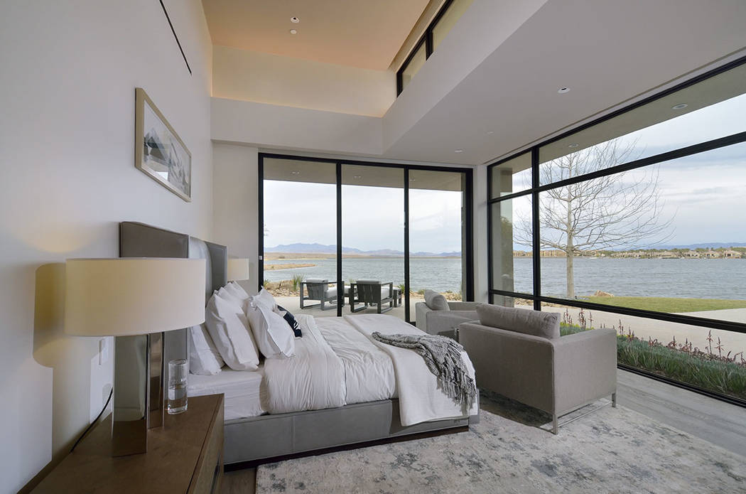 The master bedroom has a view of Lake Las Vegas. (Bill Hughes Real Estate Millions)