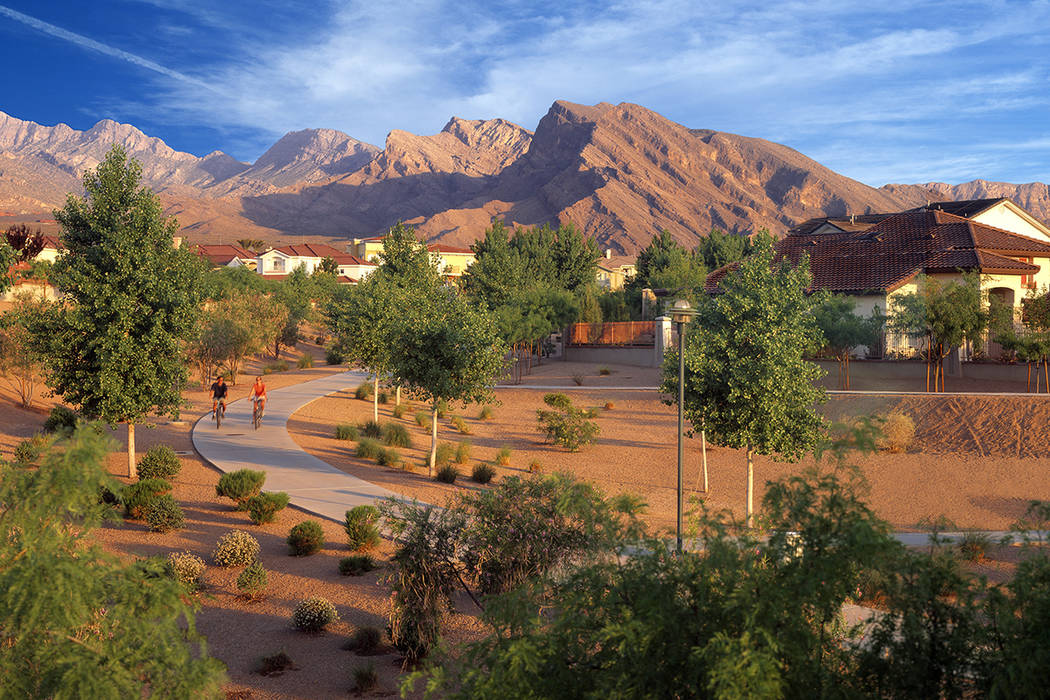 Residents of Summerlin enjoy year-round cooler temperatures and a greater variety of naturally ...