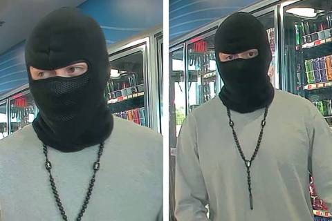 Police are looking for a man suspected in an armed robbery Saturday, June 8, 2019, on the 6000 ...