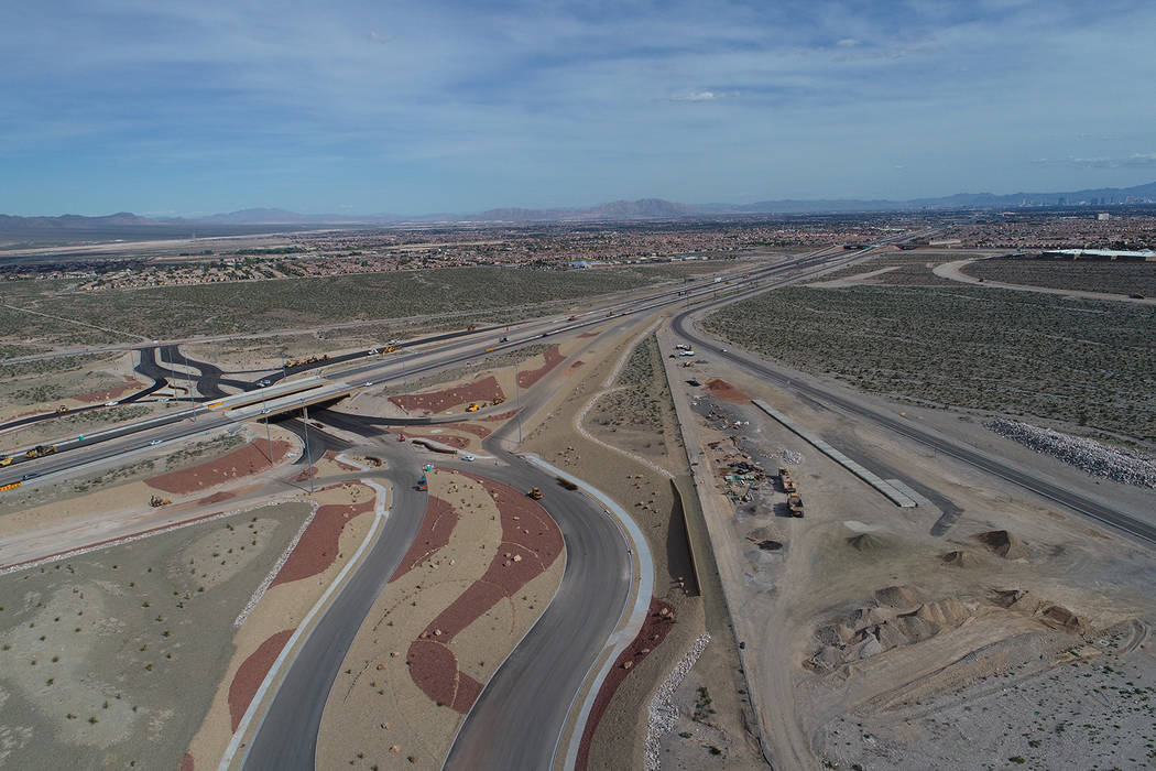 The $78 million Kyle Canyon Road interchange project included the widening of U.S. Highway 95 f ...